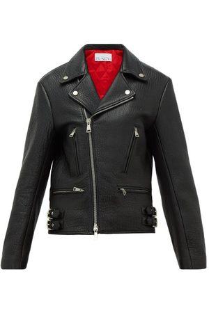 Raey Tumbled-leather Biker Jacket - Womens