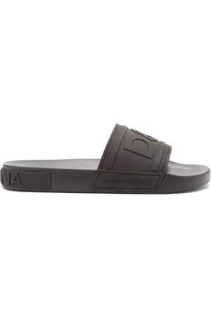 Dolce & Gabbana Men Sandals - Logo-embossed Rubber Slides - Mens