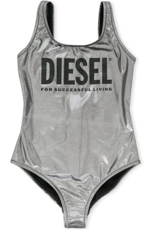 Diesel Girls Swimsuits - Metallic logo print swimsuit