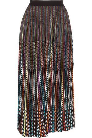 Mary Katrantzou Women Printed Skirts - Geo print pleated midi skirt
