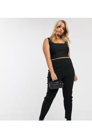 ASOS ASOS DESIGN Curve high waist pants in skinny fit