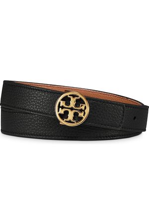Tory Burch Women's Reversible Leather Logo Belt