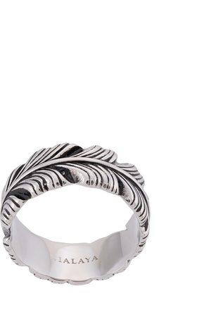 Nialaya Men Rings - Feather engraved ring