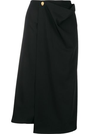 Bottega Veneta Wrap-style midi skirt