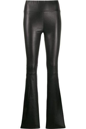 SPRWMN Women Leather Pants - Bootcut trousers