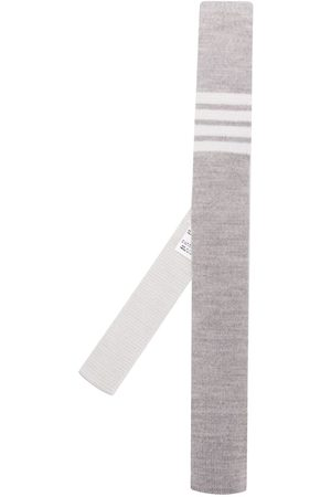 Thom Browne 4-bar Wool Knit Tie - Grey