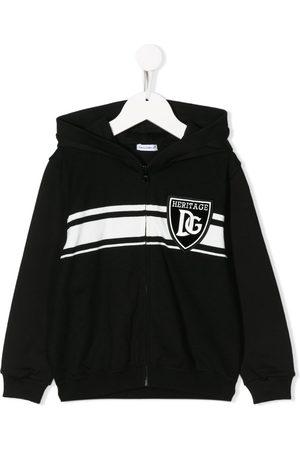 Dolce & Gabbana DG badge zip-up hoodie