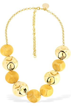 VANDA JACINTHO Double Hammered Short Necklace