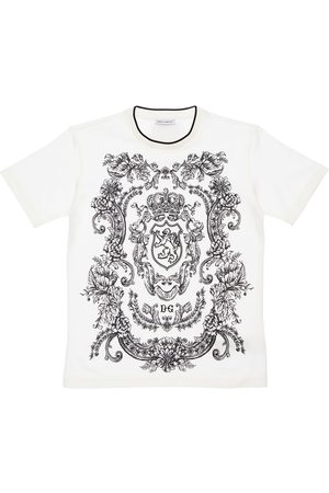 Dolce & Gabbana Lion Print Cotton Jersey T-shirt