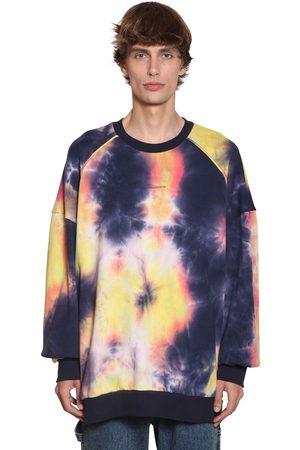 JUUN.J Tie Dyed Cotton Jersey Sweatshirt
