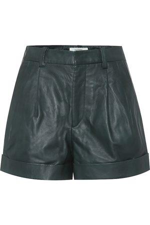 Isabel Marant, Étoile Abot high-rise leather shorts