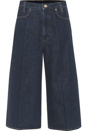Goldsign Covell high-rise denim culottes