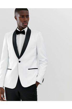 ASOS Skinny tuxedo blazer in with black lapels