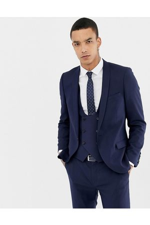 Twisted Tailor Hemmingway super skinny wool mix suit jacket in navy