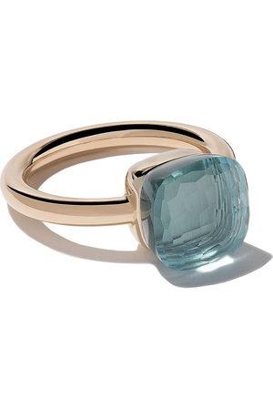 Pomellato Women Rings - 18kt rose & white gold Nudo light topaz ring