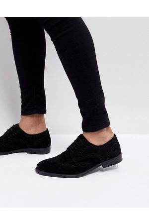 ASOS Derby brogue shoes in suede
