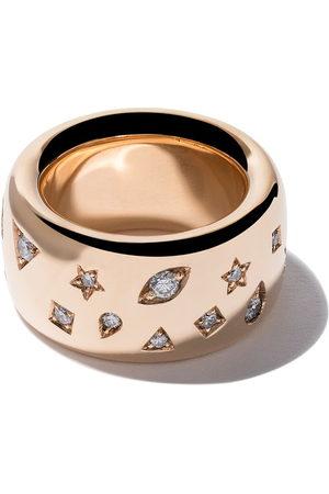 Pomellato 18kt rose Iconica wide band diamond ring