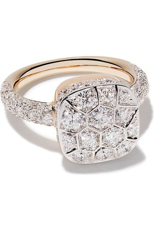 Pomellato 18kt rose and gold Nudo diamond ring - AB704GO6B9