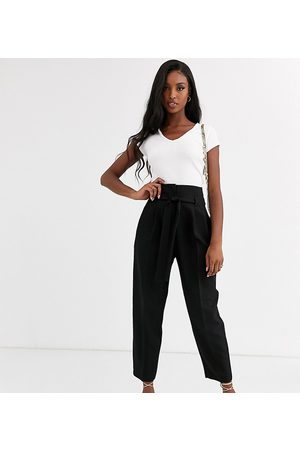 ASOS ASOS DESIGN Tall tailored tie waist tapered ankle grazer pants