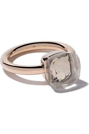Pomellato 18kt rose & gold Nudo topaz ring