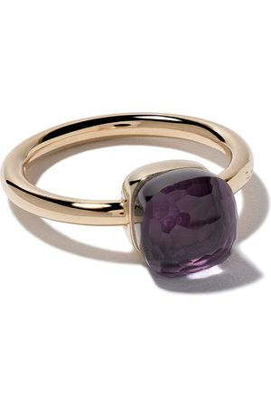 Pomellato 18kt rose & white gold small Nudo amethyst ring - VIOLET