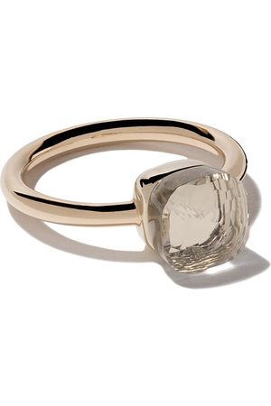 Pomellato 18kt rose & gold small Nudo topaz ring