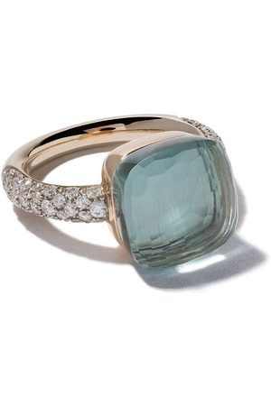 Pomellato 18kt rose and white gold small Nudo topaz and diamond ring - LIGHT
