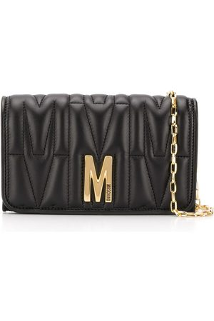 Moschino Monogram-quilted clutch bag