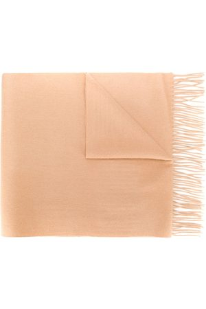 N.PEAL Large woven cashmere scarf - Neutrals