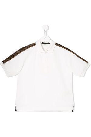 Fendi FF motif tape detail polo shirt
