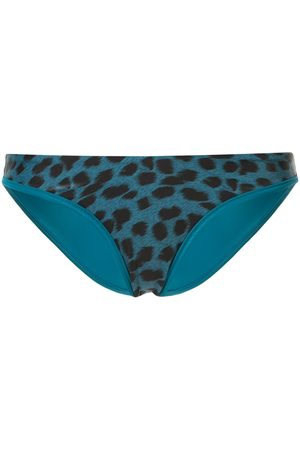 Duskii Reversible leopard-print bikini bottoms