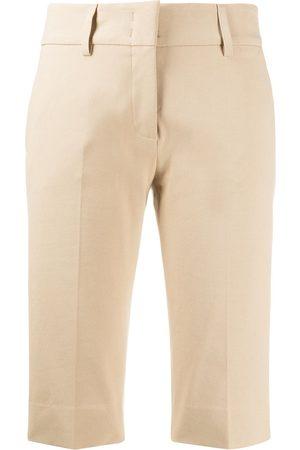 PIAZZA SEMPIONE Slim-fit tailored-style shorts - Neutrals