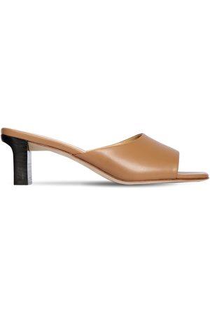 Aeyde 55mm Katti Leather Mule Sandals