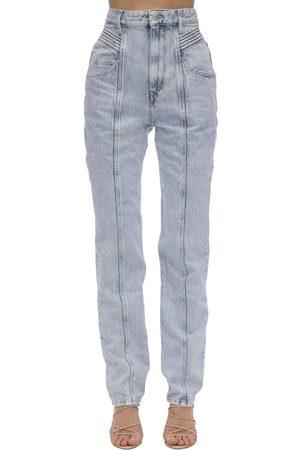 Isabel Marant Henoya High Waist Cotton Denim Jeans