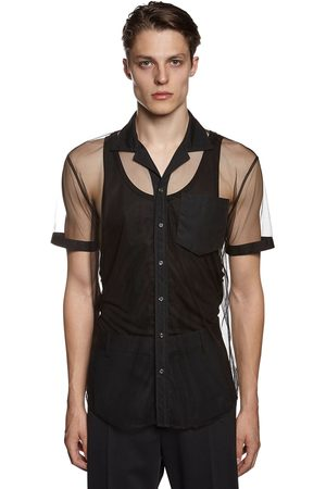 Dsquared2 See-through Nylon Tulle Shirt
