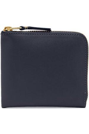 Comme des Garçons Women Wallets - Zip-around Leather Wallet - Womens - Navy