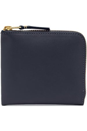 Comme des Garçons Zip-around Leather Wallet - Womens - Navy
