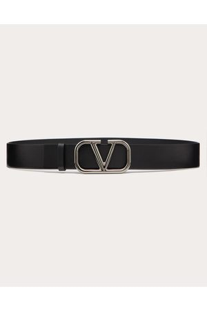 VALENTINO GARAVANI Vlogo Signature Calfskin Belt Man Calfskin 100% 85