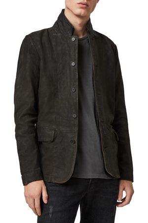 AllSaints Men's Survey Slim Fit Leather Blazer