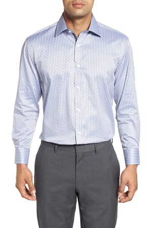 English Laundry Men's Regular Fit Check Dress Shirt