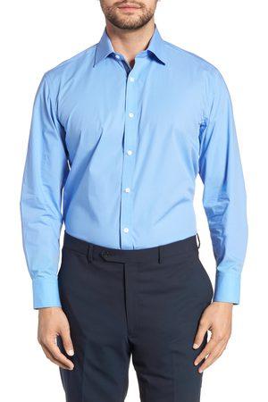 English Laundry Men's Regular Fit Stretch Solid Dress Shirt