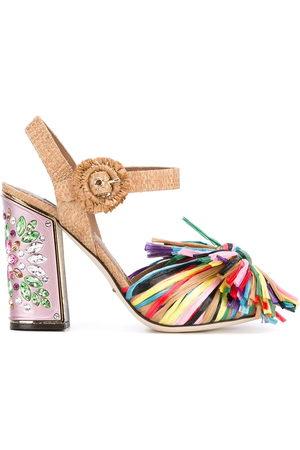 Dolce & Gabbana Women Sandals - Fringed embellished sandals