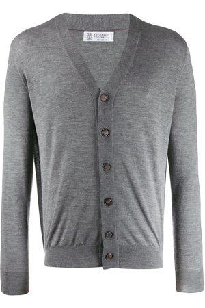 Brunello Cucinelli Classic fitted cardigan - Grey