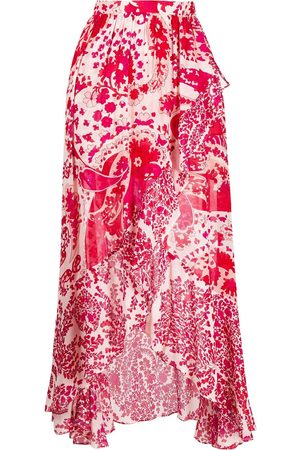 Twin-Set Abstract floral-print skirt