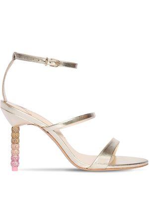SOPHIA WEBSTER 85mm Rosalind Metallic Leather Sandals