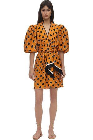 JOHANNA ORTIZ Polka Dot Viscose Twill Mini Dress