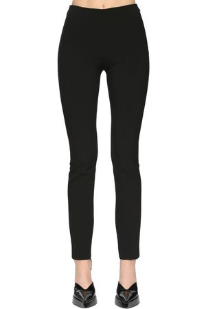 MUGLER High Waist Tech Scuba Straight Pants