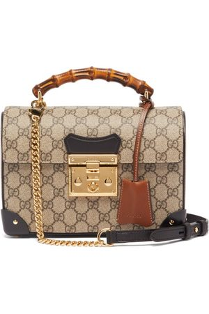 Gucci Padlock Gg Supreme Bamboo Handbag - Womens - Grey Multi