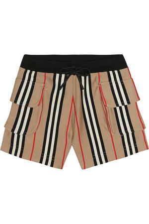 Burberry Ines Icon Stripe cotton shorts