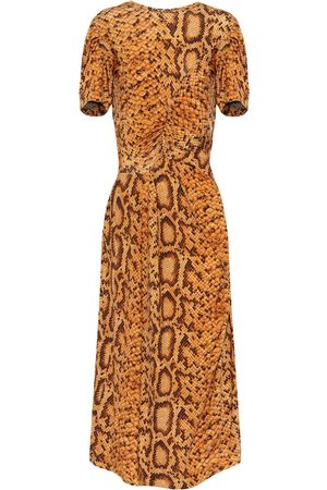 THORNTON BREGAZZI Daliz snake-print dress
